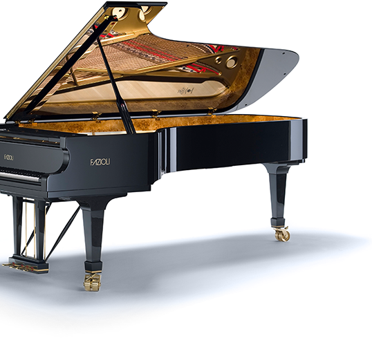 Fazioli grand piano for sale at our piano store in Portland