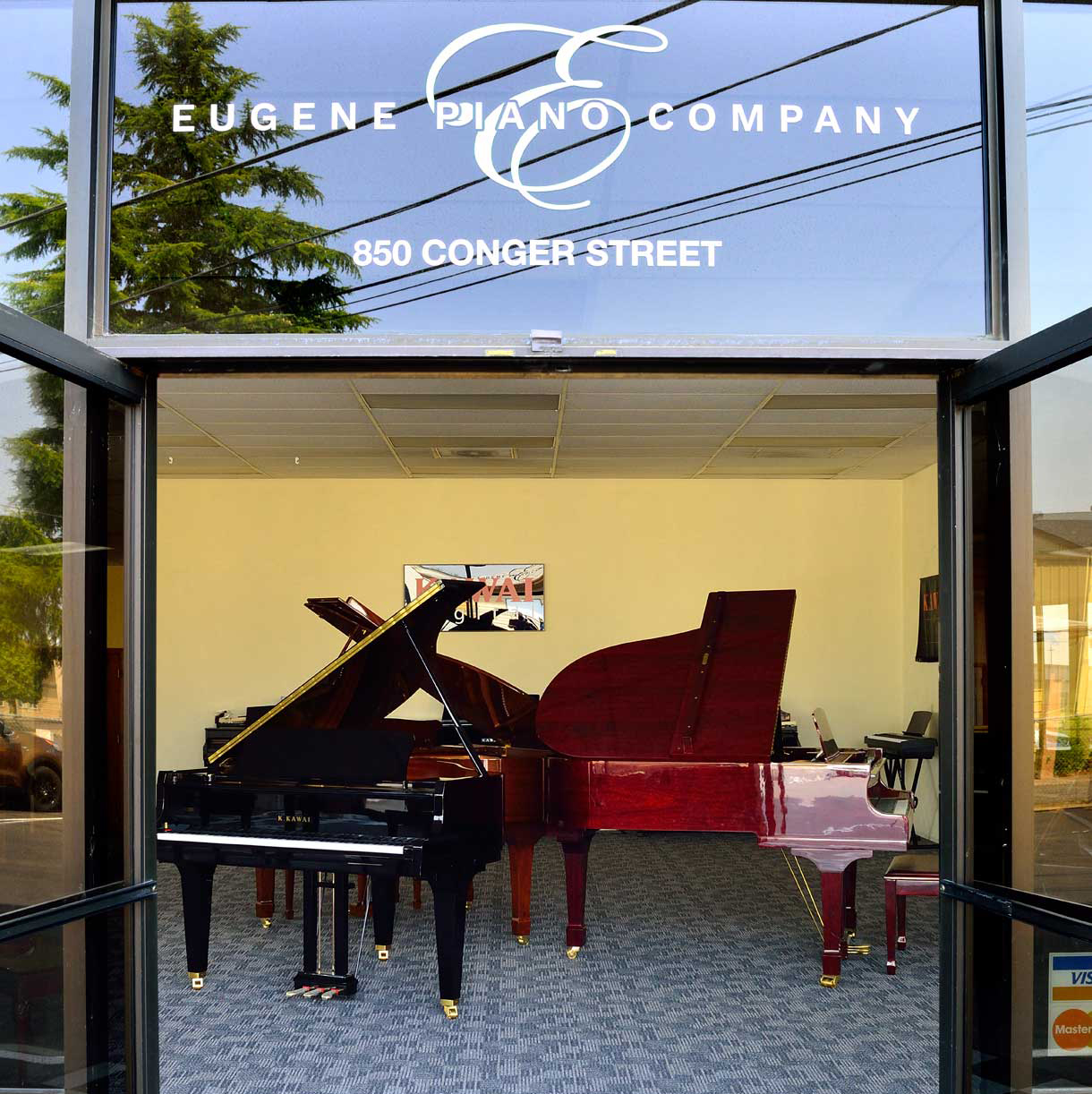 Eugene Piano Company's new Portland piano store showroom and warehouse