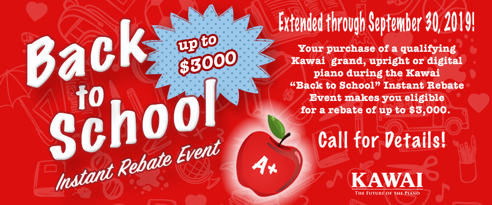 Back to School Instant Rebate Event