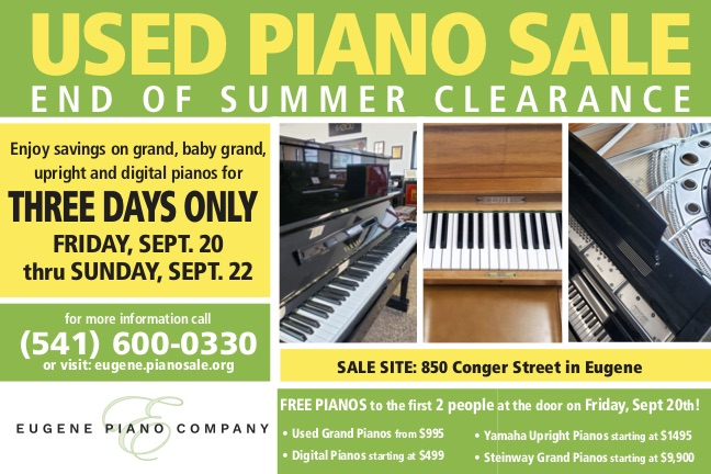 Used Piano Sale – End of Summer Clearance