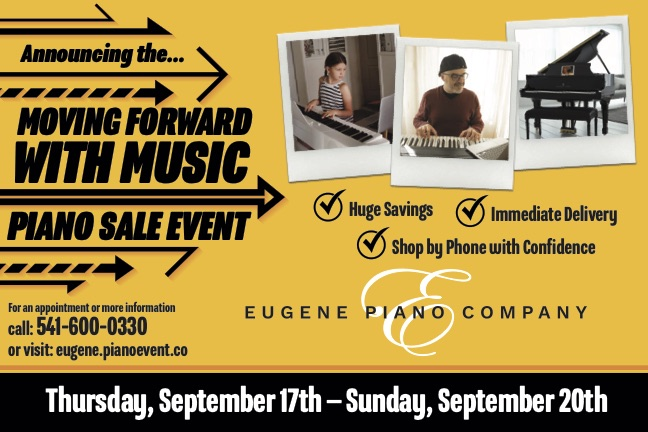 Moving forward with music sale event