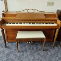 A sweet walnut spinet piano is on sale! If you are looking for a smaller piano that will old its tune and sound for many years, this is it.