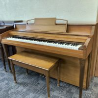 A sweet spinet piano for your home! The Hobart M. cable is great for practicing and enjoying music.